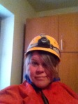 Me about to head out caving in Budapest, Hungary.