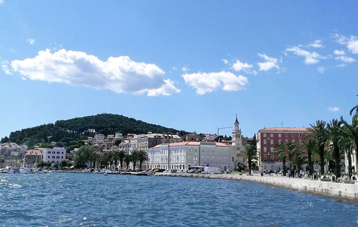 Marjan Hill in the city of Split along the Dalmatian Coast