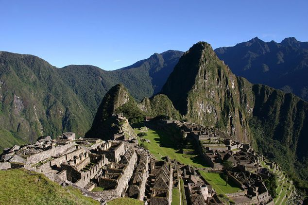 Machu Picchu, Andes Mountains in Peru