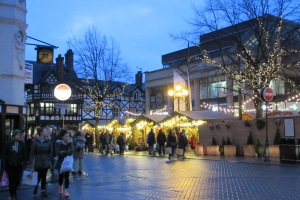 Christmas markets in Chester, UK