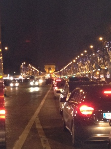 The best I could do - The Champs-Elysees lit up in Christmas lights.