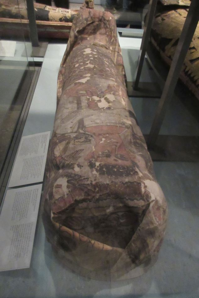 An ancient mummy at The British Museum
