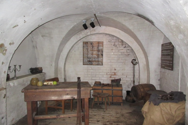 """One of the """"nicer"""" cells of this former jail. Galleries of Justice, Nottingham"""