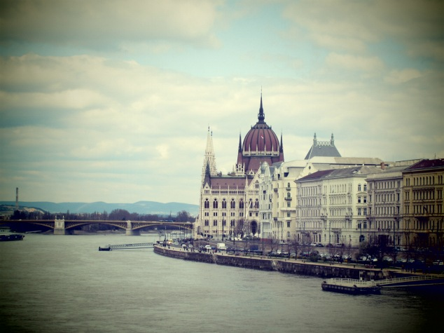Hungary's Parliament Buildings overlooking the Danube River