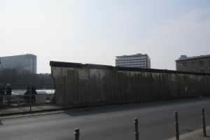 A portion of the Berlin Wall left standing