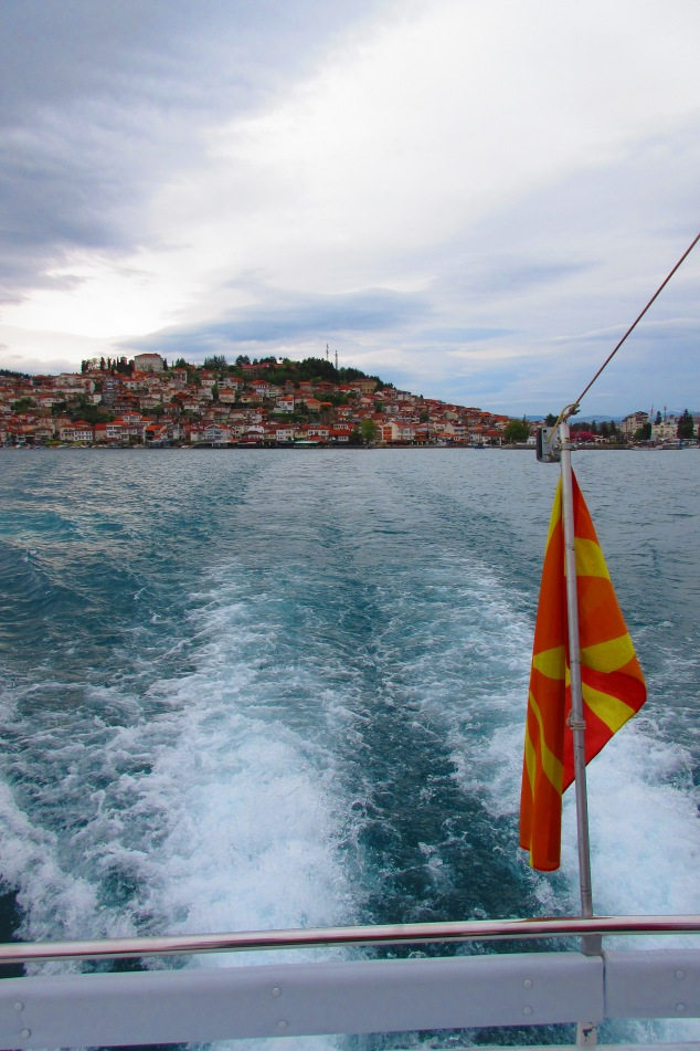 Ohrid from the boat taking us to St Naum Monastery