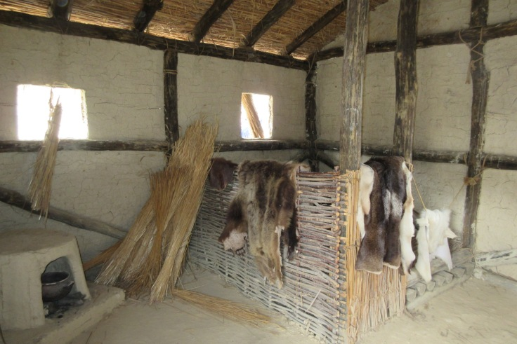 The interior of one of the huts, Bay of Bones