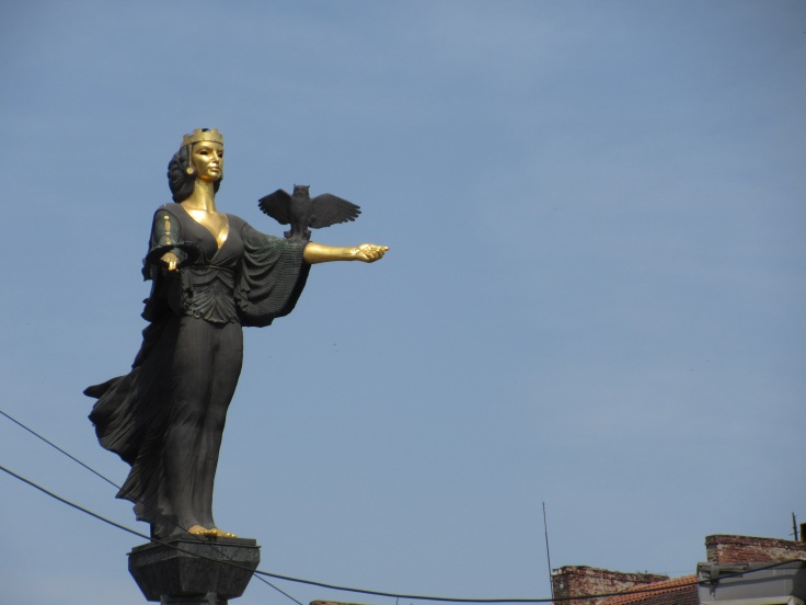 Statue of St Sofia - this statue replaced one of Lenin