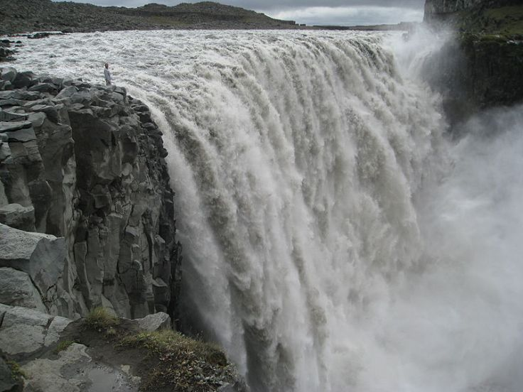 The power of Dettifoss Falls, Iceland