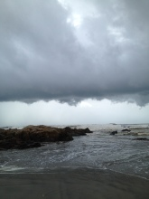 Clouds gathering, Vagator Beach, Goa. Photo taken and owned by Eeva Valiharju/Wanders The World