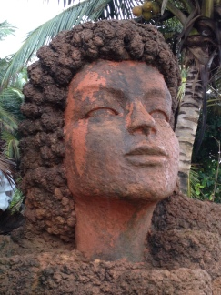 Statue outside of Curlie's Pub, Anjuna Beach, Goa. Photo taken and owned by Eeva Valiharju/Wanders The World