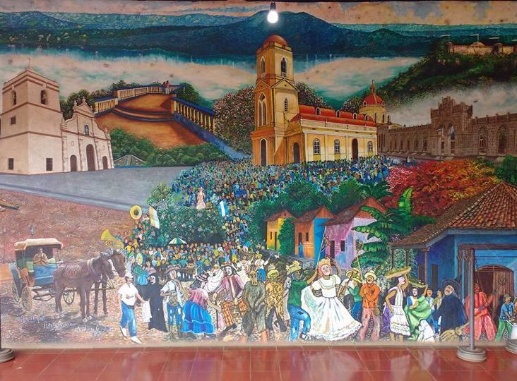Mesaya Market Mural - Biggest Market in Nicaragua