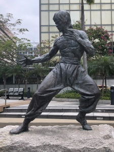 Bruce Lee statue at the Garden of the Stars