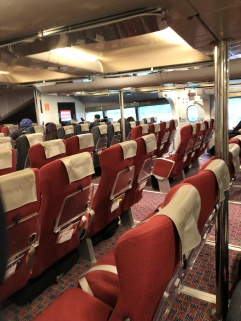 interior of the ferry